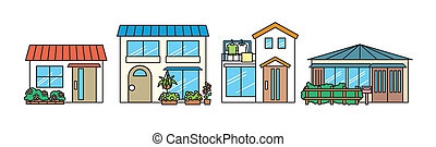 house illust set