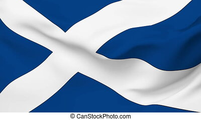 Flag of Scotland - Flag of the Scotland waving in the wind....