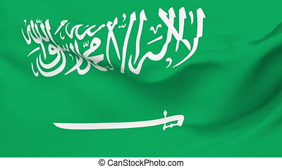 Flag of Saudi Arabia - Flag of the Saudi Arabia waving in...