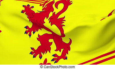 Flag of Scotland - Flag of the Scotland waving in the wind...