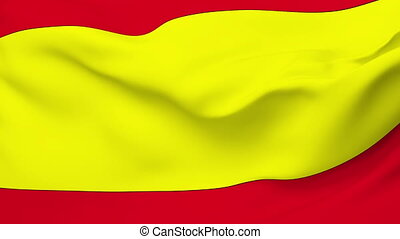 Flag of Spain - Flag of the Spain waving in the wind...