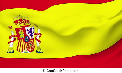 Flag of Spain - Flag of the Spain waving in the wind....
