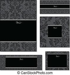 Vector Black Frame and Pattern Set
