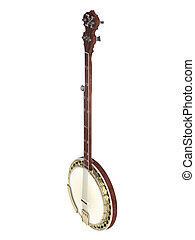 Banjo isolated on white background