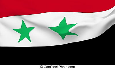 Flag of Syria - Flag of the Syria waving in the wind...