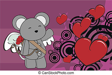 mouse cupid cartoon background