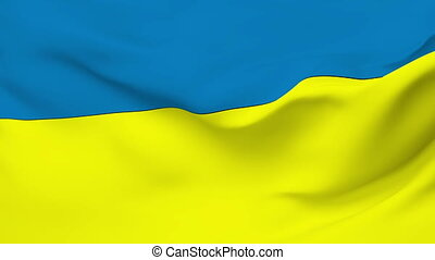 Flag of Ukraine - Flag of the Ukraine waving in the wind...