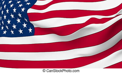 Flag of United States - Flag of the United States waving in...