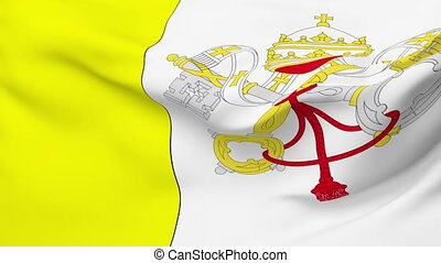 Flag of Vatican - Flag of the Vatican waving in the wind....