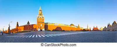 Moscow Red Square - Hight resolution panoramic image of the...