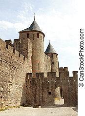 ancient castle of carcasonne - the ancient castle of...
