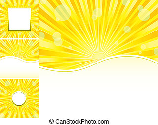 Set of abstract colorful backgrounds, part 21, vector illustration
