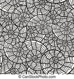 vector seamless monochrome pattern with sea shells, clipping...
