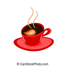 Red coffee cup - Abstract espresso coffee vector...