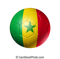Soccer football ball with Senegal flag - 3D soccer ball with...
