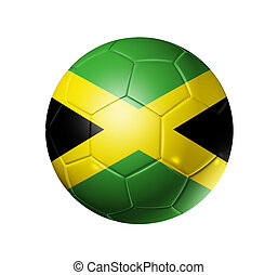 Soccer football ball with Jamaica flag - 3D soccer ball with...
