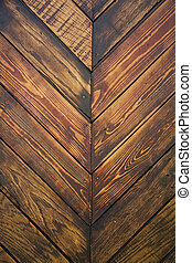 Wood texture - Planks of old wood in herringbone pattern