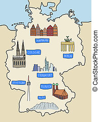 Germany - famous places: Berlin, Hamburg, Cologne,...