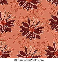 seamless flowers red