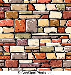 color stone wall - vector seamless background with a stone...
