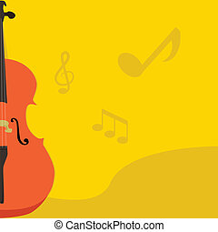 Cello - Concept illustration of a page layout with a musical...