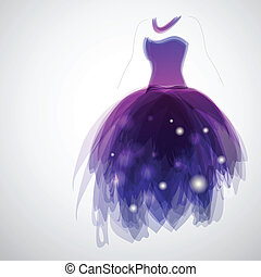 Brides dress - Woman silhouette with gorgeous brides dress...