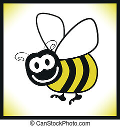 Bumble bee design. - Bumble bee design within a square...