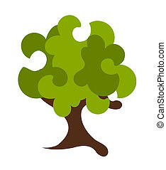 Abstract tree - Abstract fantasy green tree vector...