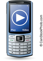 Modern cell phone - Modern mobile cell phone and video...
