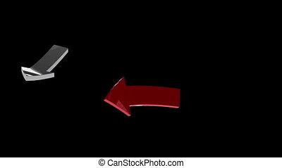 Arrows rotating