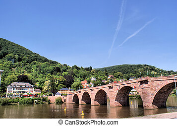 Bridge over the Neckar in the German city Heidelberg