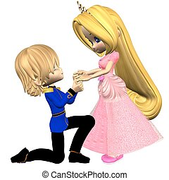 Cute Toon Fairytale Prince and Prin