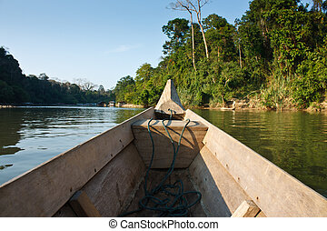 boat trip in the Jungle
