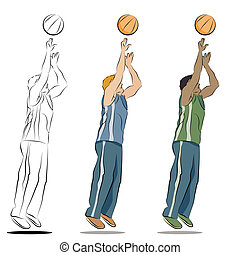 Basketball Player - An image of a basketball player line...