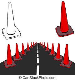Construction Cones Road