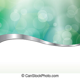 Abstract background blue green lights. Vector illustration.