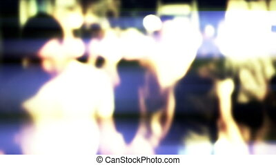 Crowd, slow motion, lens blur