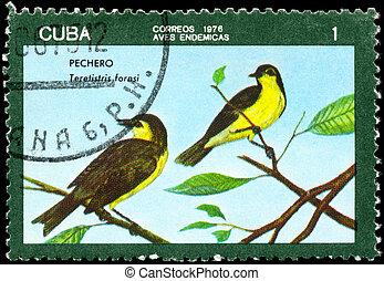 CUBA - CIRCA 1976 Oriente Warbler
