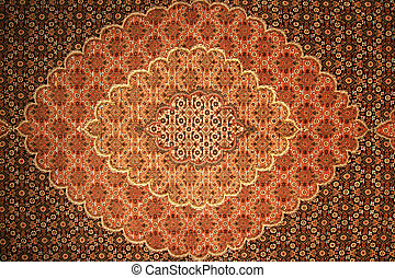 persian carpet background - brown and red persian carpet...