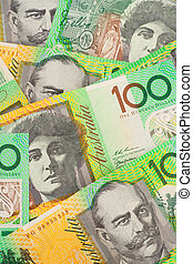 Australian Currency $100 Banknotes Background - Multiple...
