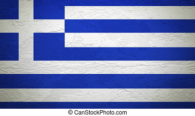 GREECE flag on wall explosion