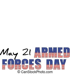 USA - may 21 - armed forces day