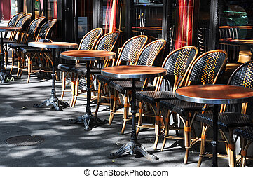Cafe terrace in Paris - Typical cafe terrace in Paris