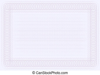 Blank Certificate Template in Shades of Violet