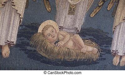 nativity mosaic - mosaic about nativity