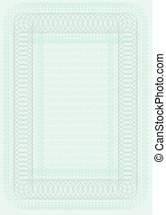 Blank Certificate Template in Shades of Green
