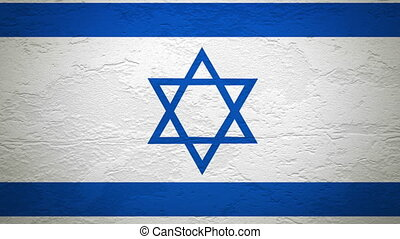 ISREAL flag on wall explosion