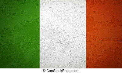IRELAND flag on wall explosion alpha
