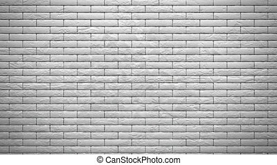 Wall of white bricks explosion