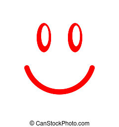 smiley face - Red smiley face on a white background...